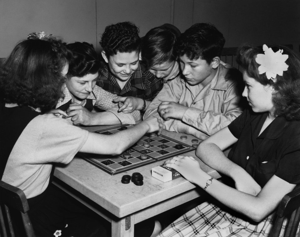 Gamble Valley Community Building Checker Game Oak Ridge 1944