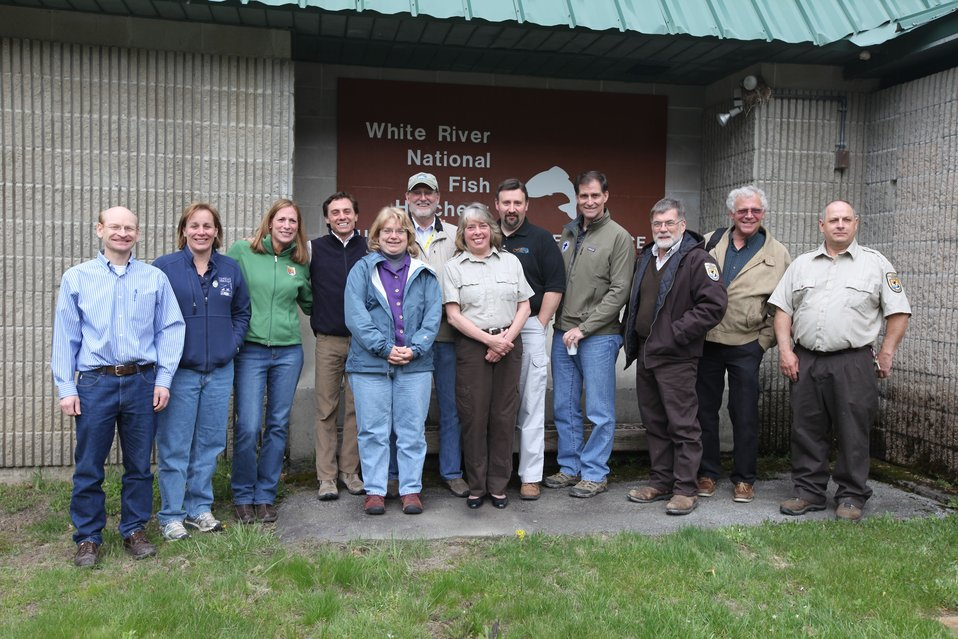Dan Ashe, Northeast Regional Directorate, Regional Office and White River National Fish Hatchery Staff