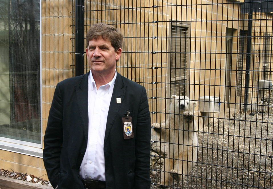 FWS Reg Director w Kali climbing