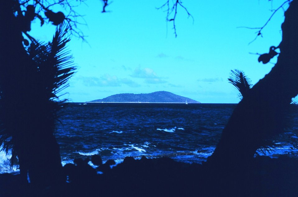 View of Buck Island Reef National Monument from Chenay Bay on Green Cay.