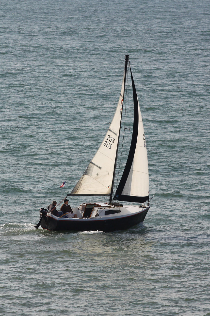 Small sloop sailboat