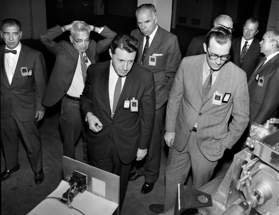 Caspar Weinberger and D.B. Rice visit to Oak Ridge with Glenn Seaborg 1970