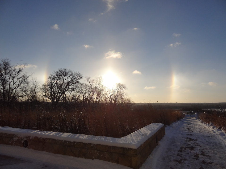 Sundog at Minnesota Valley National Wildlife Refuge