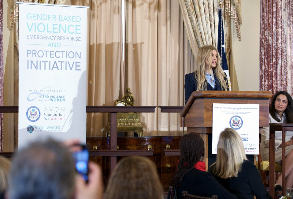 Avon Global Ambassador Fergie Delivers Remarks at the Launch of the Gender-Based Violence Emergency Response and Protection Initiative