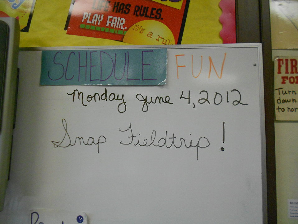 On the schedule today: FUN!