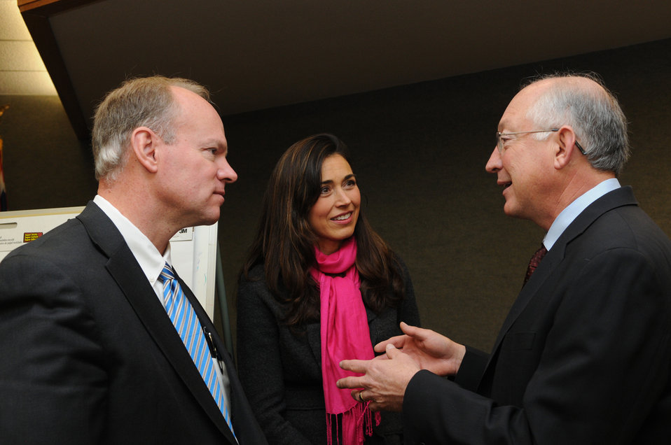 Wyoming - Gov Mead, Mrs Mead, and Sec Salazar
