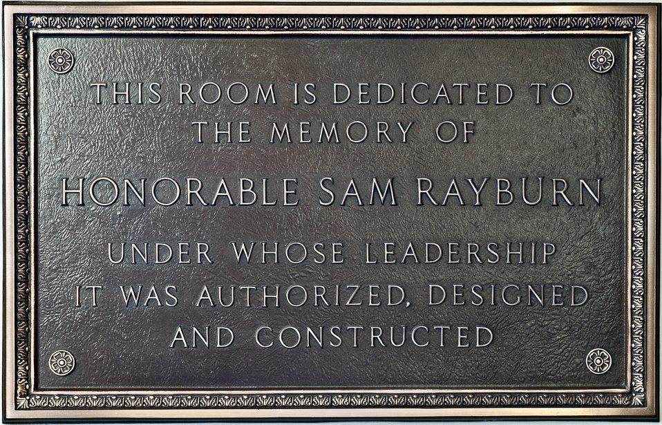Speaker Sam Rayburn Plaque