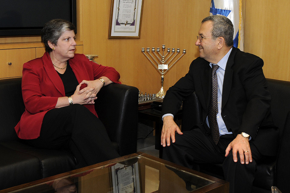 Secretary Napolitano Meets With Israeli Defense Minister Barak