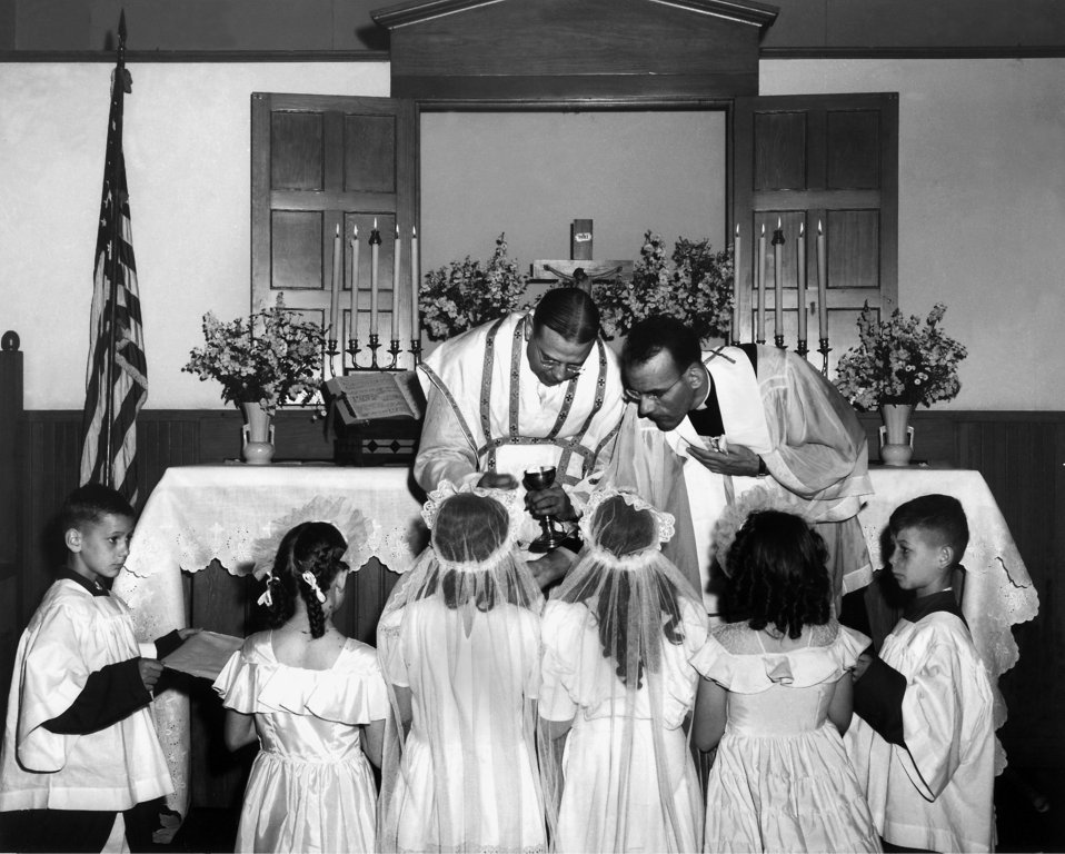 First Communion at Catholic church Oak Ridge