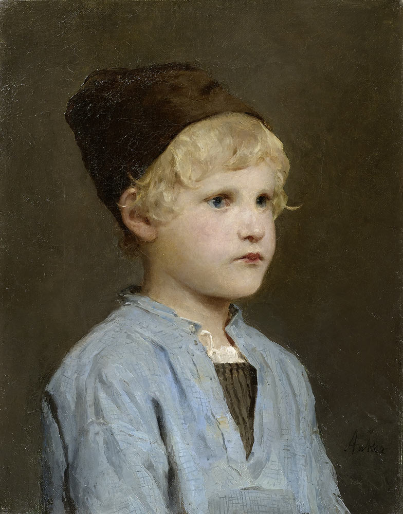 Albert Anker - Porträt eines Knaben mit Mütze.jpg