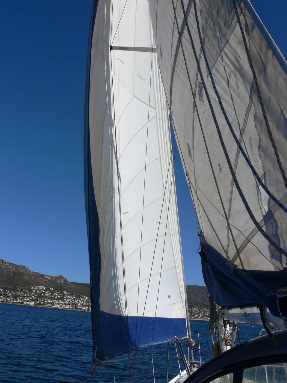 Behind the sails