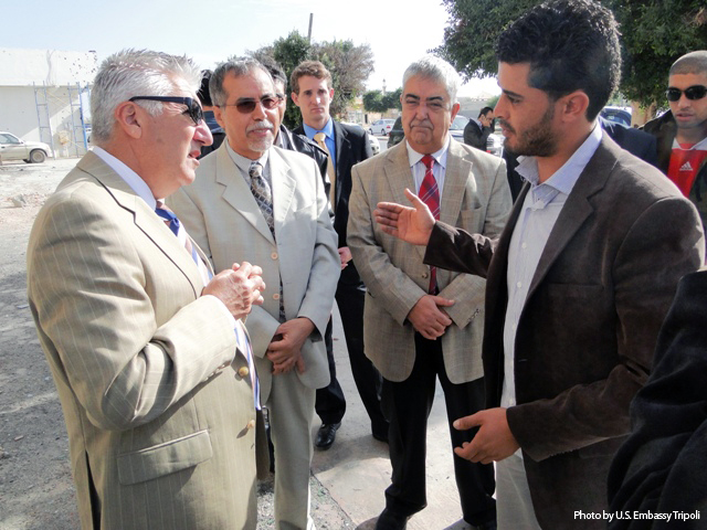 Ambassador Cretz Meets With a Misuratan Resident