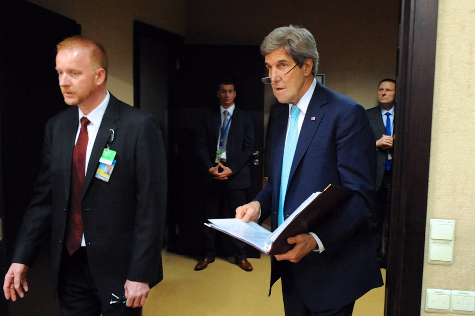Secretary Kerry Attends NATO-Ukraine Session at NATO Headquarters in Brussels