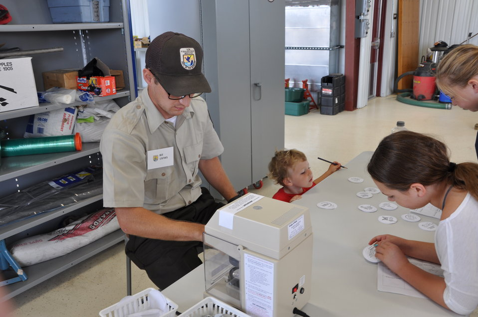 Family activities at La Crosse visitor center