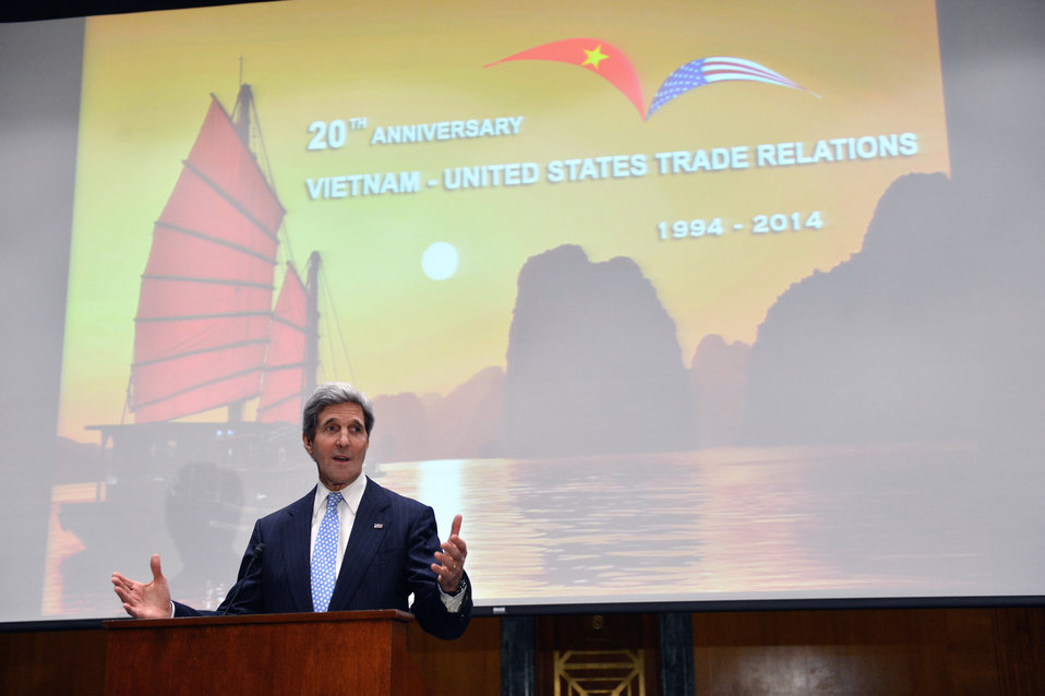Secretary Kerry Attends a Reception in Honor of the 20th Anniversary of U.S.–Vietnam Trade Relations