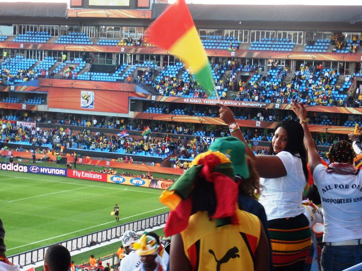 Ghanaian Fans Cheer