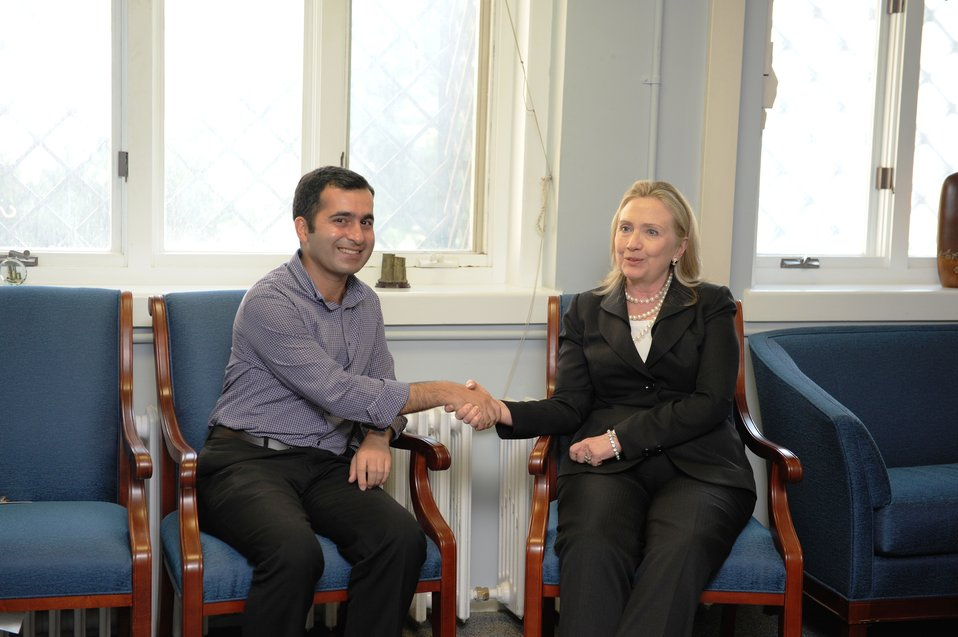 Secretary Clinton Meets With Bakhtiyar Hajiyev