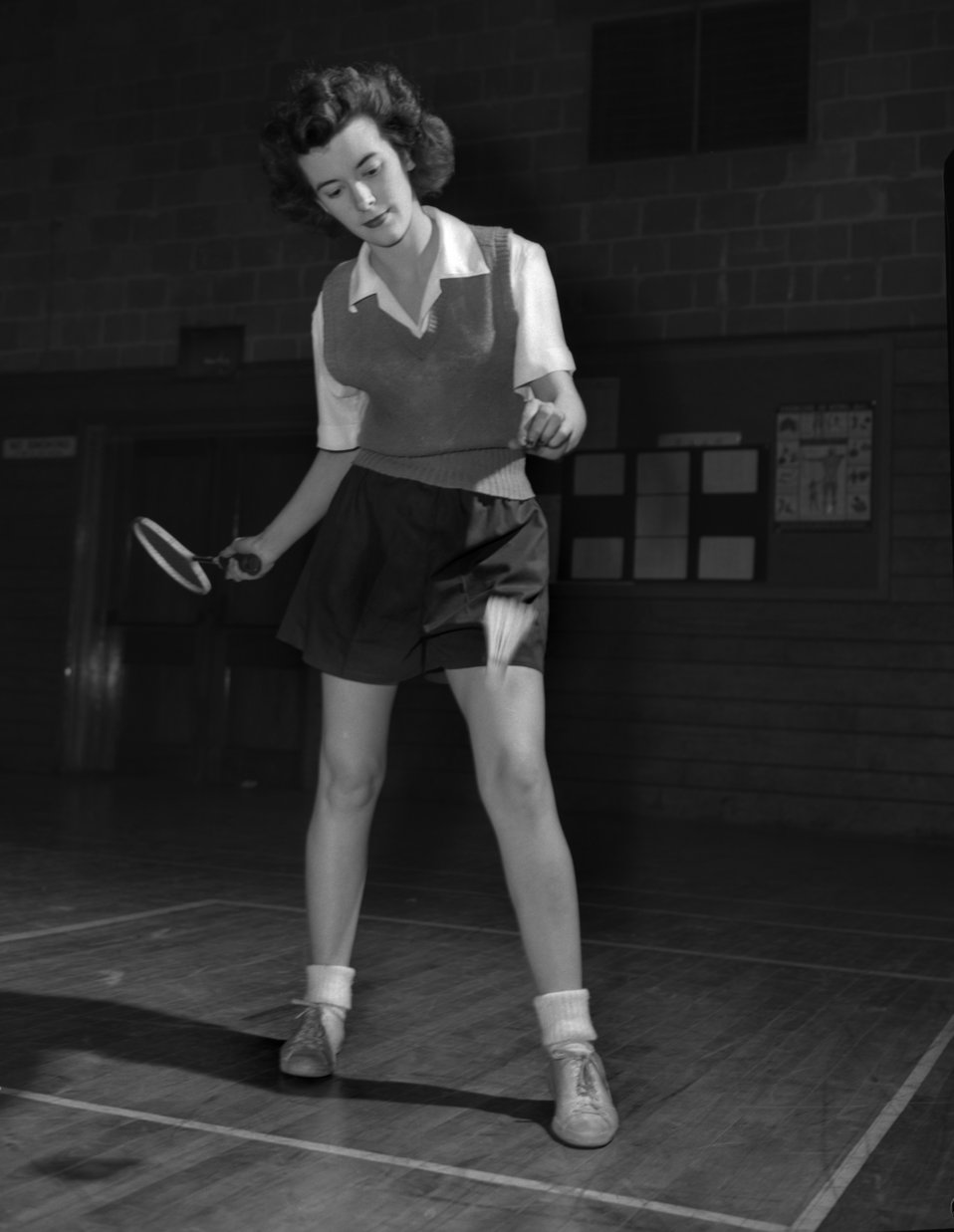 Jean Harampolis Playing Badminton Oak Ridge
