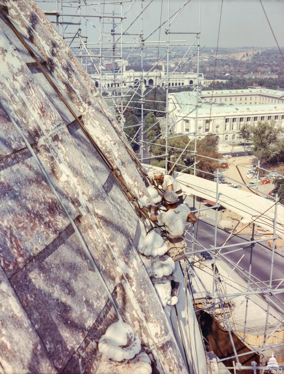 Dome Undergoing Repairs 1960