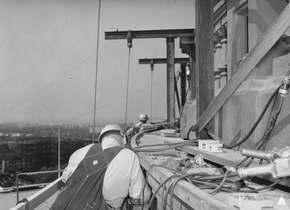 Capitol Dome Restoration Work 1959-1960