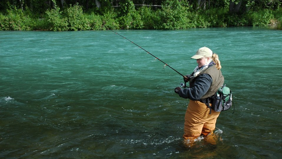 Angler at Kenai NWR Brett Billings USFWS