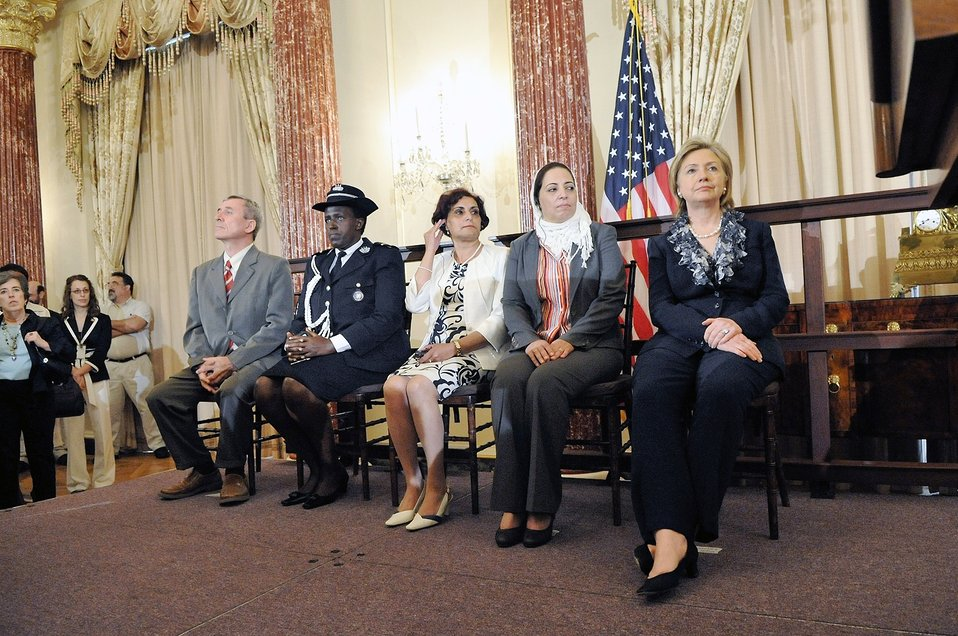 Secretary Clinton With TIP Honorees