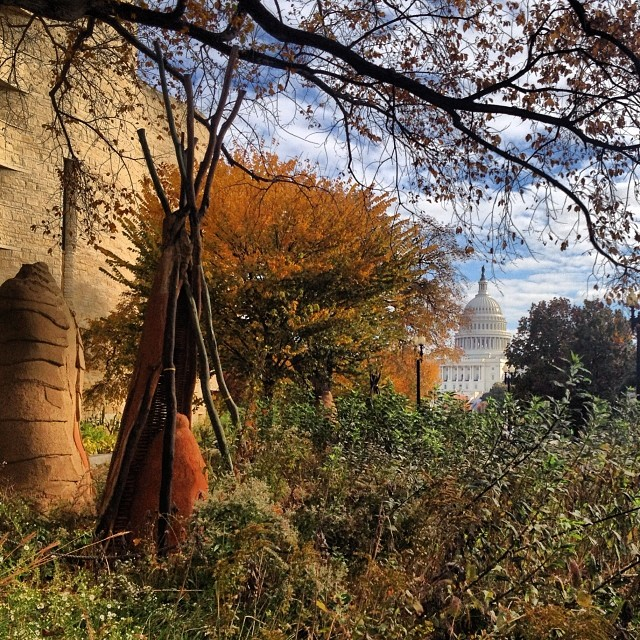 Recognizing Native American Heritage Month - View of Capitol Dome from Smithsonian American Indian Museum