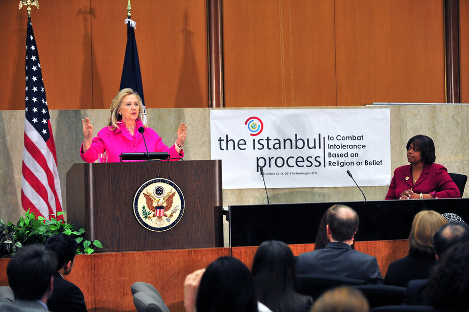 Secretary Clinton Address Istanbul Process for Combating Intolerance and Discrimination Based on Religion or Belief