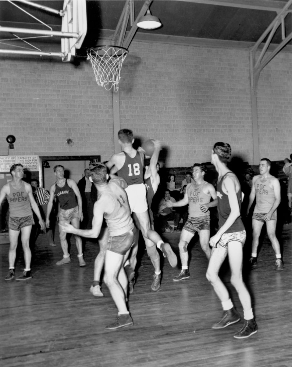 Basketball Game Oak Ridge 1945