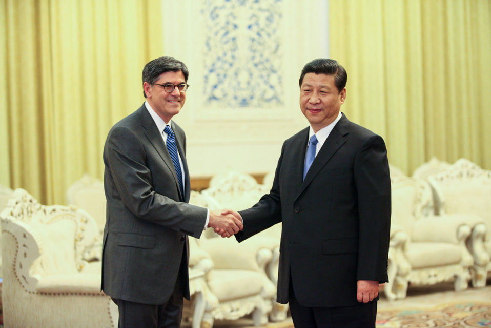 Secretary Lew met with Chinese President Xi Jinping in Beijing on Tuesday, March 19, 2013.