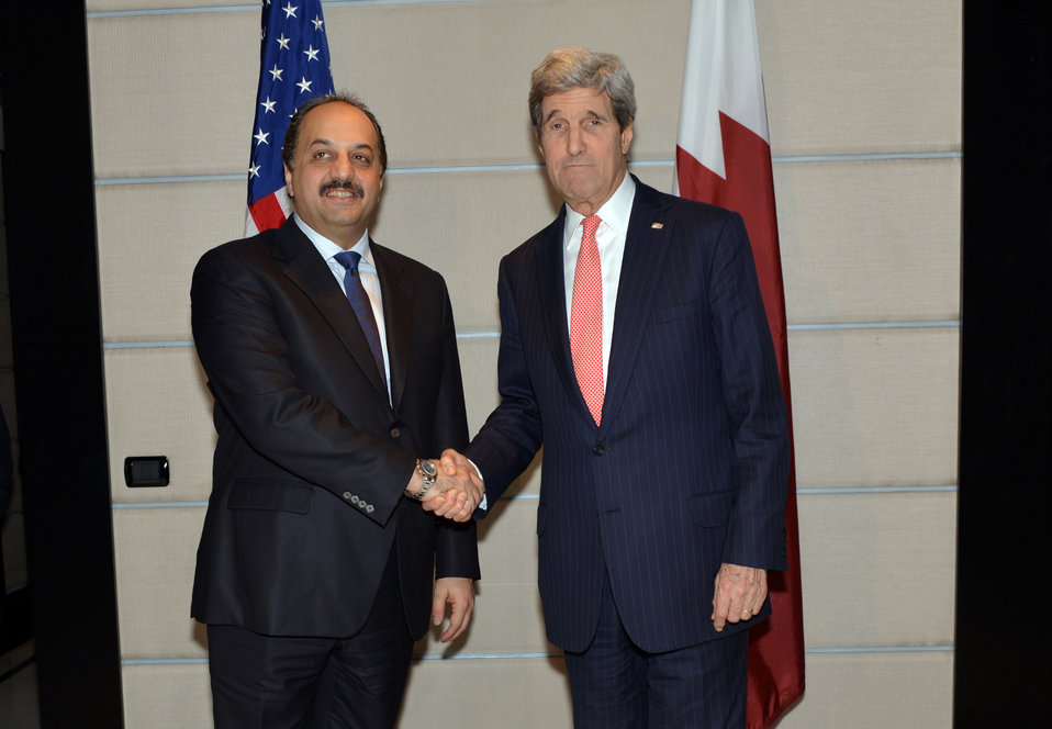 Secretary Kerry Meets With Qatari Foreign Minister Al Attiya
