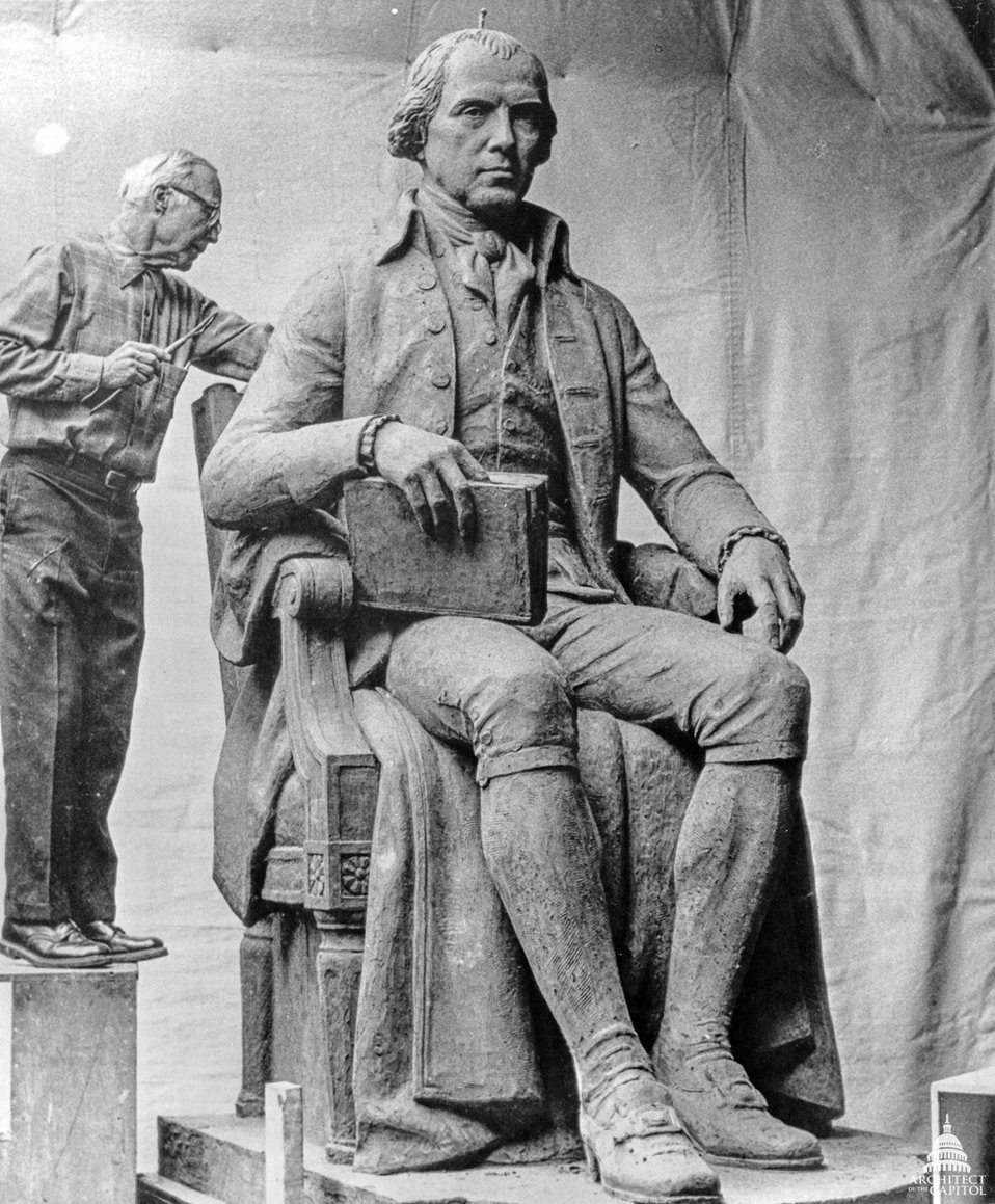 Model of James Madison statue