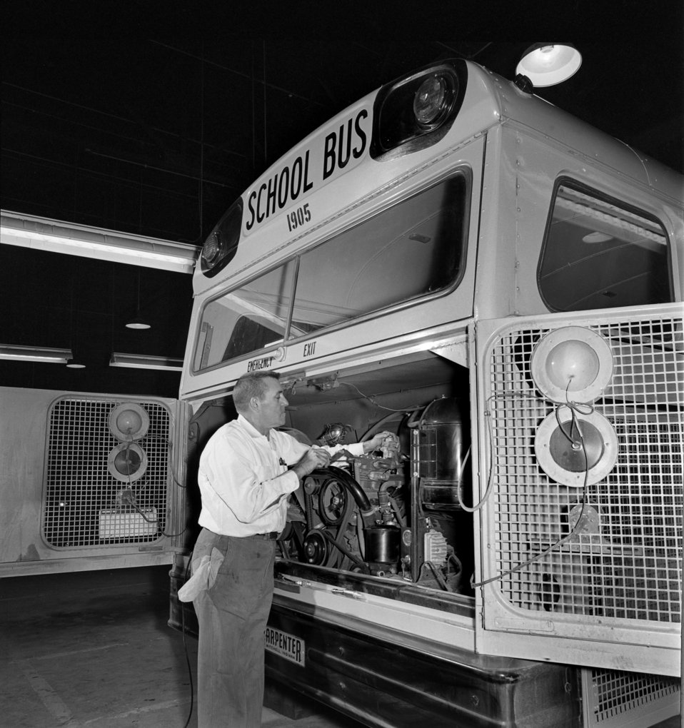 Working on Oak Ridge School Bus 1968