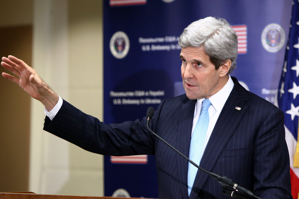 Secretary Kerry Addresses Reporters in Kyiv, Ukraine