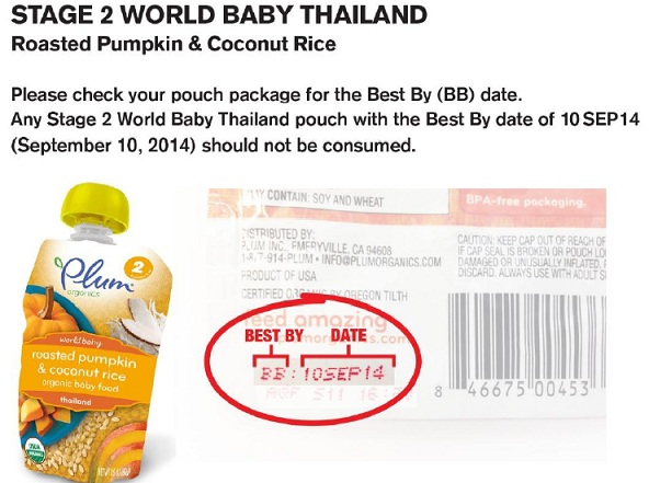 RECALLED – World Baby Italy and World Baby Thailand pouch products