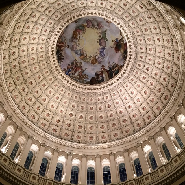 Evening in the Capitol Rotunda and the Apotheosis of Washington.