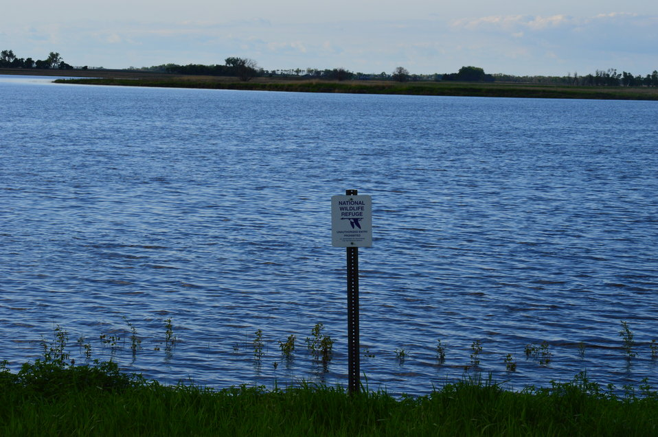 Sand Lake and NWR sign