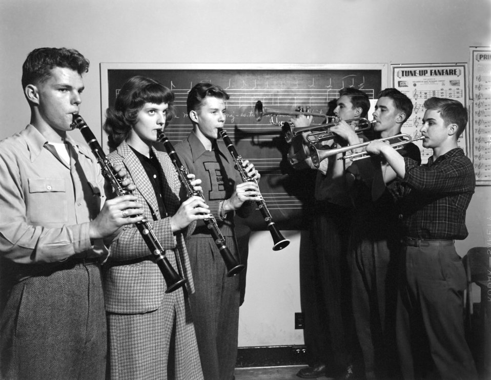 Music Class Oak Ridge High School 1947
