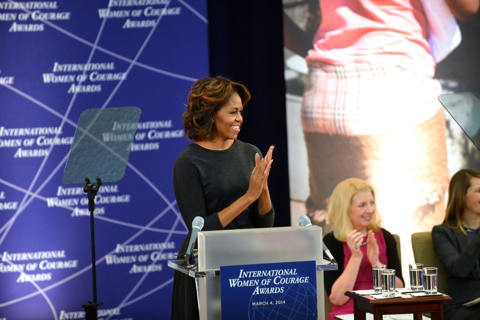 First Lady Michelle Obama Honors the International Women of Courage