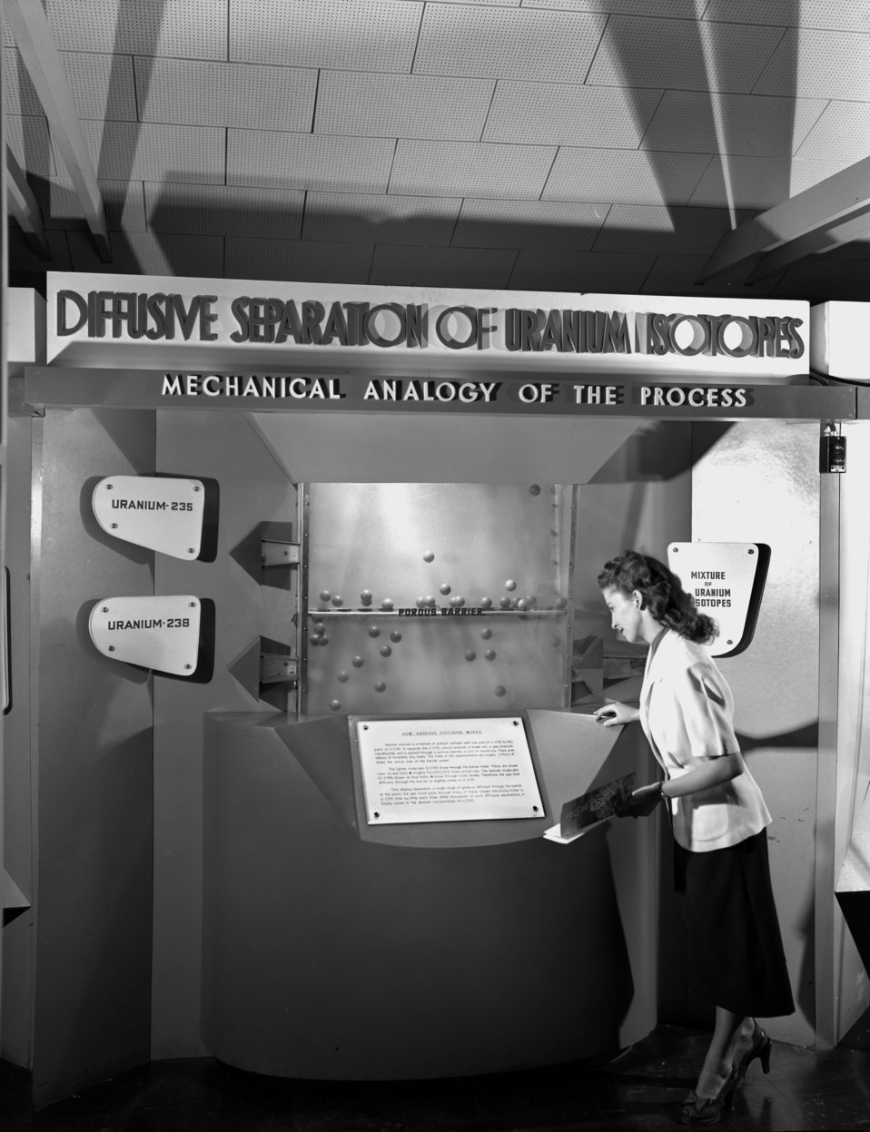 Radiosotope Display AMSE Oak Ridge 1949