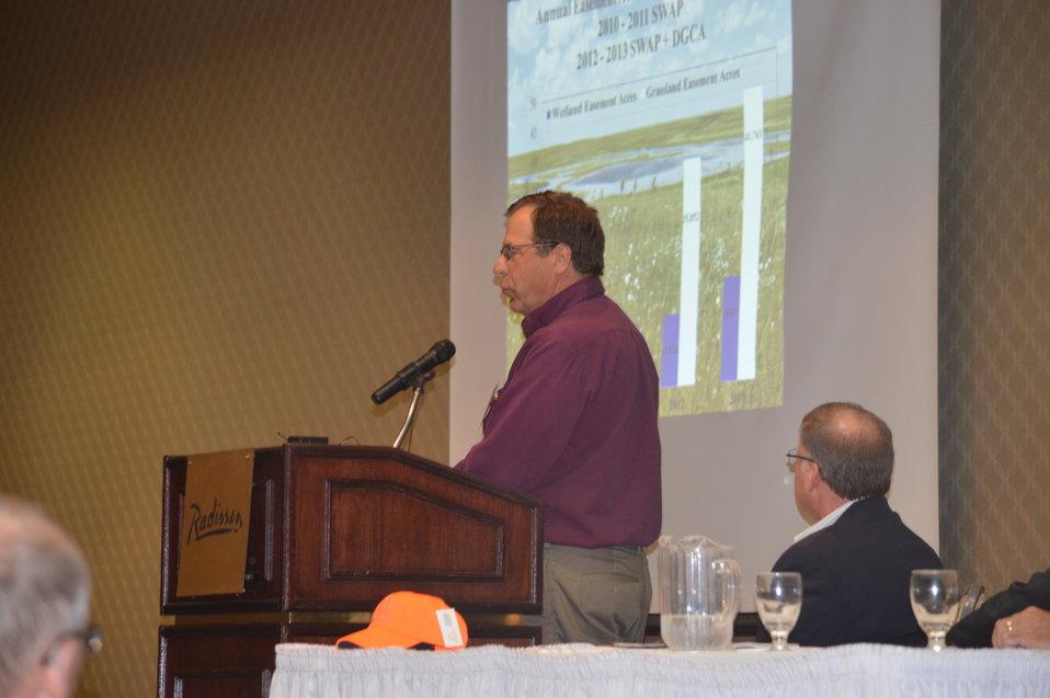 Lloyd Jones presents about grassland and wetland easements