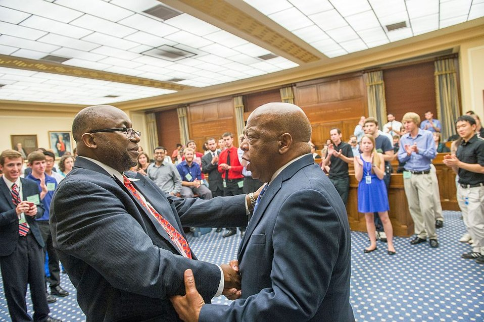Congressman Lewis and Deputy Director May