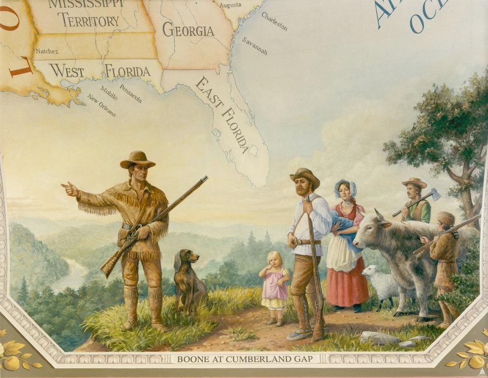 Boone at Cumberland Gap