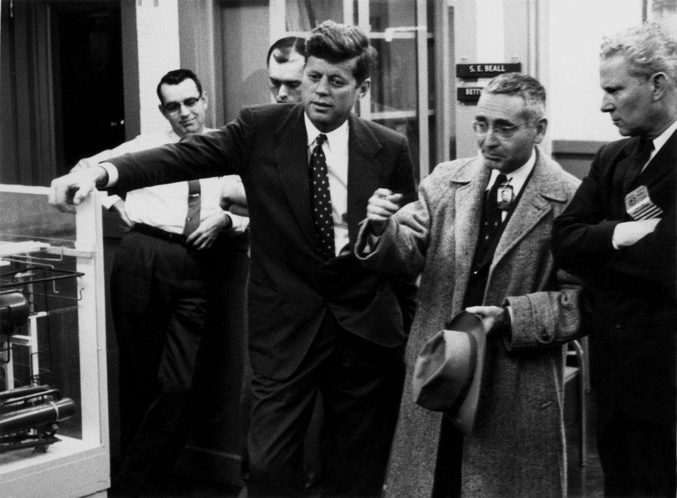 Sen. John F. Kennedy, ORNL Lab Dir. Alvin Weinberg and Sen. Gore visiting Oak Ridge