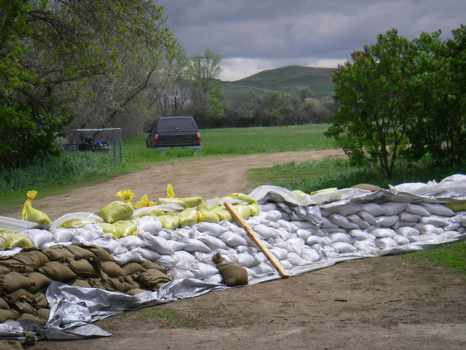 Sand Bags Protect Property