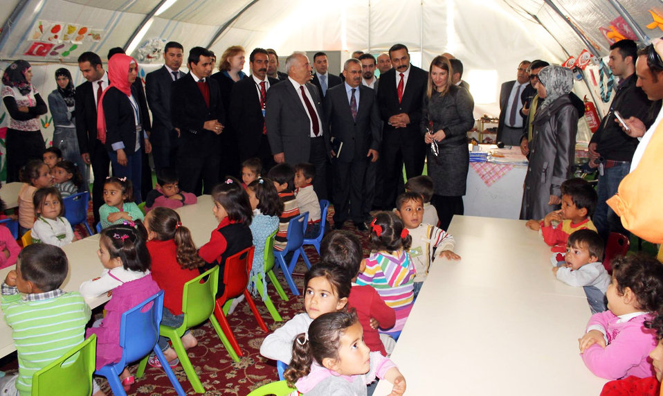 Deputy Secretary Higginbottom Visits a Classroom at a Syrian Refugee Camp