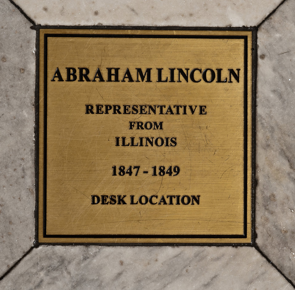 President Lincoln Desk Location Marker