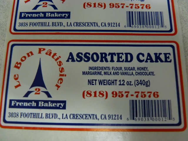 RECALLED - Pastry Products