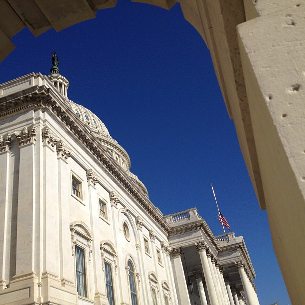 Bright blue sky morning at the Capitol