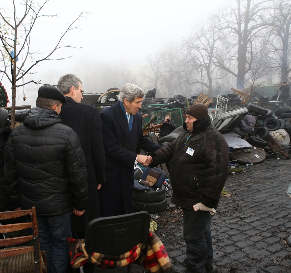 Secretary Kerry Speaks With a Ukrainian
